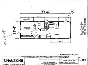 Deluxe Park Model Floorplan